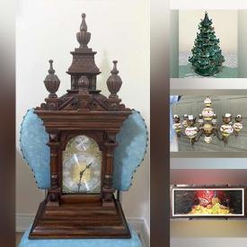 MaxSold Auction: This online auction features vintage and antique bottles, lamps, glassware, barware, Pyrex, dinnerware, original art, household items, golf items, jewelry, tons of books, VHS tapes, DVDs, CDs, men's clothing, Christmas items, outdoor items and much more.