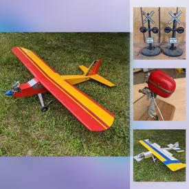 MaxSold Auction: This online auction features Balsa Wood Model Airplanes, RC Model Airplanes, Model Boat Outboard Motors, Folk Art Airplanes, Radio Controllers, Model Airplane Kits, Model Airplane Parts, Model Train Cars & Locomotives, Model Train Accessories, HO Gauge Train Cars & Kits and much more!