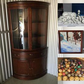 MaxSold Auction: This online auction features artwork, Ukrainian Decorations, Opera Glasses, Christmas Decorations, Fine China, Famous Face Prints, Royal Doulton, Glassware, Artbooks, Tea Cups, Curio Cabinets, Hummel Figures, Boyd Bears, Perfumes Costume Jewelry, Kitchen Aid, Wedgwood, Stamps and much more.