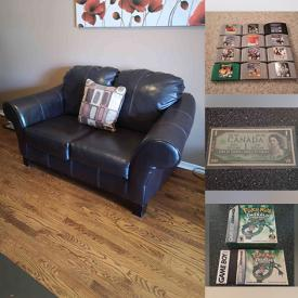 MaxSold Auction: This online auction features Leather Furniture, Sports Equipment, Floor Speakers, Combo Pool Table, Video Game Systems, Video Games, Coins, Chest Freezer, Printer, Comics and much more!