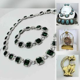 MaxSold Auction: This online auction features Rhinestone, Gemstone and Sterling jewelry, Swarovski, Artisan jewelry, Brooches, Cameos, Carnival glass, statement pieces, treasured itemsand much more!
