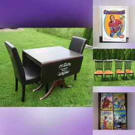 MaxSold Auction: This online auction features Hockey Collectibles, Glass Top Desk, Comics, LPs, Coins, Banknotes, Movie Posters, Art Pottery, Pokemon Cards, Costume Jewelry, NIB Holiday Barbie, Dolls & Clothing, Decorative Glass Inserts and much more!