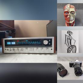 MaxSold Auction: This online auction features Artworks, Vintage Vinyl, Pioneer Receiver, Antique and Vintage Cameras, JVC Turntable, Indigenous Pottery and much more!