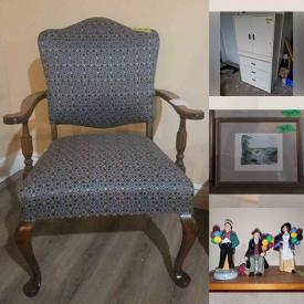 MaxSold Auction: This online auction features furniture such as a storage cupboard, vintage side table, occasional table, vintage chair, hope chest and more, rugs, Kitchenaid stand mixer, pie rack, kitchenware, gingerbread clock, lamps, Royal Doulton, Bunnykins, framed art, vacuums and much more!