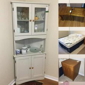 MaxSold Auction: This online auction features fine china, Royal Albert, furniture such as Teak nightstand, pine bed frames, cabinets, side tables, and Palliser armchair, small kitchen appliances, area rugs, glassware, costume jewelry, lighting, original watercolours, CDs, DVDs, dishware and much more!