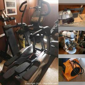 MaxSold Auction: This online auction features furniture such as a Dufferin pool table, stools, tables, office chair, rolling cart and more, fitness equipment such as a Precor treadmill, punching bag ceiling attachment, foot pedals with counter, Johnson stationary cycling machine, True Fitness elliptical, Powertec weight bench and more, Kitchenaid mixer, Dyson hot and cold fan, Roomba vacuum, Ridgid fan and blower, Honda gas pressure washer, Sony PS4, Danby freezer and much more!
