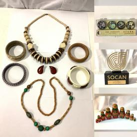 MaxSold Auction: This online auction features collectibles such as 2000 SOCAN trophy, Harry Potter paper flyers set, Limoges plate, RC Rastar Ferrari, and Canadian coins, cosmetics such as Estee Lauder, Jouviance, Lancome, Vichy, and PUR, jewelry such as pewter necklace, sterling silver necklace, earrings, and bracelets, car badges such as Mercedes Benz, BMW, Dodge Ram, Jaguar, and Buick and much more!