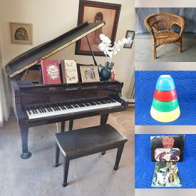 MaxSold Auction: This online auction features Vintage MCM Lighting, Electric Fireplace, Bicycles, Telescope, Vintage Rattan, Vintage Digital Piano, Baby Grand Piano, Dividing Screen. Vintage Pyrex, Art Glass, Printer, Small Kitchen Appliances, Vintage Star Wars Portfolio, Wooden Carving, Vintage Table Saw and much more!