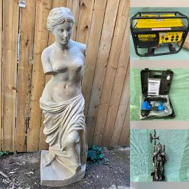 MaxSold Auction: This online auction features Garden Tools, Power Tools, Air Compressor, Art Glass, Vintage Duck Decoys, Jewelry, Owl Collection, Life Size Greek Statues, Stamps, Coffee Table Books, Art Pottery, Collectible Teacups, Coins, Generator, and much more!