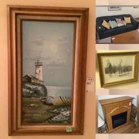 MaxSold Auction: This online auction features Board Games, Puzzles, Small Kitchen Appliances, Children's Books, Yard Tools, Watches, Art Glass, Framed Wall Art, Electric Fireplace, Teak Furniture, Huntley Brown Prints, Vintage Wicker Chairs, Wine Racks and much more!