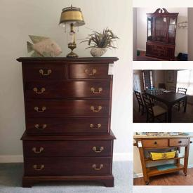 MaxSold Auction: This online auction features Jazzy mobility chair, furniture such as dining room table with chairs, electric recliners, dressers, nightstands, and kitchen island, stemware, framed wall art, area rugs, Epson printer, lamps, kitchenware, dishware, small kitchen appliances, power tools, shelving, patio set, Weber grill and much more!
