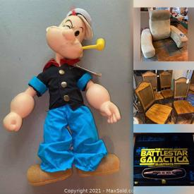 MaxSold Auction: This online auction features Desktop Computer, Pet Supplies, Exercise Equipment, Comic Dolls, Barrister Bookcase, Comics, Role Playing Game Books, Lego Sets, NIB Action Figures, Lawnmower, BBQ Grill, Toys, Sports Cards, NIB Pop Figures, Puppets and much more!