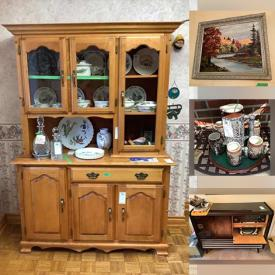 MaxSold Auction: This online auction features Vintage Patio Set, Vases, Bookcase, Vacuum, Art, Prints, Collectible Spoons, Fine China, Telefunken Vintage Stereo, Sewing Machine, China Cabinet, Microwave &Toaster, TV and much more!