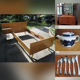 MaxSold Auction: This online auction features Pyrex, MCM Furniture, MCM Glassware, Carved stone figures, Statues, Lefton Pixie Jars, Art Deco Barware, Kitchenware, Books, Kitchen Appliances, Wood Carvings and bowls, Nippon, Teak, FITBIT, Perfume and much more.