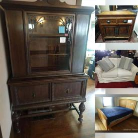MaxSold Auction: This online auction features Antique Furniture, Art Deco Metal Light Fixtures, Portable Dishwashers, TV, Kitchen Workstations, Yard Tools, Area Rugs, Men's Clothing, Aerial Yoga Hammock, BBQ Grill, Smoker, Shade Structures, Small Kitchen Appliances, Golf Clubs and much more!