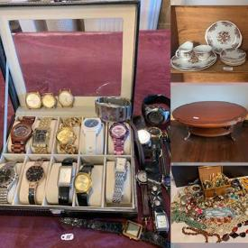 MaxSold Auction: This online auction features MCM Lamps, Vintage Costume Jewellery, NIB Tea Set, Carnival Glass, Hummel, Wedgwood, Pashminas, Vintage Hats, Wood Carvings, Cookie Jar, Men's Watches, Men's Cashmere Coat, Children's Books and much more!