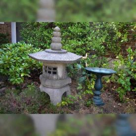 MaxSold Auction: This online auction features Pagoda and Bird Bath, Broilmate BBQ, Vintage Dress and Fascinator, LG Microwave, Microscope, Tools and Toolbox Items, Projector Items and much more!
