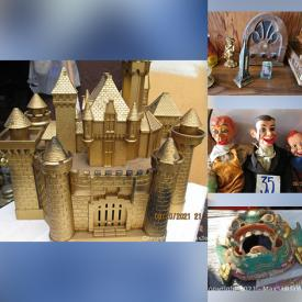 MaxSold Auction: This online auction features Toys, Lanterns, Trinket Boxes, Carved Wooden Pipes, Power & Hand Tools, Vintage Toys, Pocket Watches, Vintage Coffee Grinder, Musical Wood Instruments, Ventriloquist Dummies, Art Glass, Bagpipes, Antique Keys, Model Ships, Wooden Shoes and much more!
