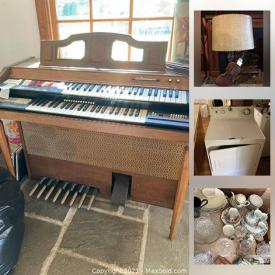 MaxSold Auction: This online auction features Kitchenware, Glassware, Fine China, Kitchen Appliances, Furniture, Pyrex, Silver Plate, Asian Tea Cart, Christmas Decorations, Artwork, Boats, Clocks, Silver Candle Sticks, Toys and much more.