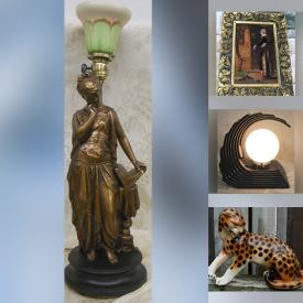 MaxSold Auction: This online auction features Art Deco Lighting, Ken Dallison Watercolour, Antique Wood Carving, Art Nouveau Bookends, Art Glass, Solid Brass Statues, Stained Glass Rooster Lamp, Vintage Cookie Jar, Framed Wall Art, Art Pottery, Coffee Table Book, Collector Teacups and much more!