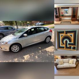 MaxSold Auction: This online auction features Ford Focus Solid Wood Dining Room Table, Logastina pots, Wicker Sofa, TV, Clown Collection, Bedroom Sets and much more!