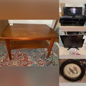 MaxSold Auction: This online auction features furniture such as a sewing cabinet, plastic storage drawers, Ikea desk, West Branch cedar chest, twin headboard, Singer sewing cabinet, Ekornes office chair and more, fireplace tools, firepit, leaf eaters, wheelbarrow, tools and hardware, Bose radio and other electronics, track lighting, crystalware, small kitchen appliances such as a Breville juice fountain, copper and silverplate items, Christmas decor, sewing items, Wii, easel, projector screen and much more!