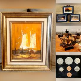 MaxSold Auction: This online auction features Framed Wall Art, Metal Signs, Small Kitchen Appliances, Collector Plates, Art Glass, Wood Carving, Vintage Perfume Dispenser, Coins & Banknotes, John Nelson Prints, Jewelry, Board Games, Comics, NIB Ulu Knife, and much more!!