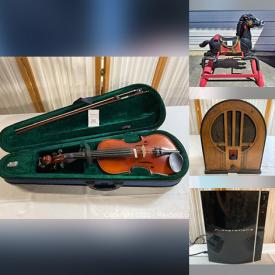 MaxSold Auction: This online auction features Stereo Components, Video Game Systems, NASA Memorabilia, Area Rugs, Original Artwork, Musical Instruments, Yarn, Power Tool, Toys, Rocking Horse, Games, Stroller, Craft Kits, Tabletop Foosball, Cameras, Computer Gear and much more!
