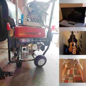 MaxSold Auction: This online auction features Troy-Bilt generator, furniture such as futon, corner desk, loveseat, and computer chairs, sporting equipment such as skateboards, helmet and gloves, décor such as area rugs and framed wall art, outdoor furniture such as patio table, patio chair, lounge chairs, and birdbath, musical equipment such as acoustic guitar, Evette flute, and ukulele, electronics such as Samsung tablet, vintage Seeburg jukebox, TCL TV, and Sharp TV, collectibles such as signed books and anthologies of The Sandman and much more!