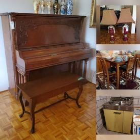 MaxSold Auction: This online auction features Mason Risch upright piano, furniture such as sofas, cabinet, and tables, décor such as framed paintings, Royal Doulton, lamps, and crystalware, appliances such as chest freezer, mobility aids such as walker, crutches, and canes, electronics such as Panasonic TV and Electrohome stereo cabinet, sports equipment such as skis and ski poles and much more!