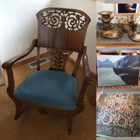 MaxSold Auction: This online auction features garden items and tools, silver plates, china plate sets, tables, beds, linens, sofa, frames, wall art, printer, tower speakers, electronics and much more!