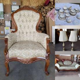 MaxSold Auction: This online auction features Crystalware, Cornflower Dessert Set, Collectible Teacups, Beer Steins, Antique Wooden Chairs, Secretary Desk, Antique Yarn Spinner, Antique Fishing Reels, Vintage Books and much more!