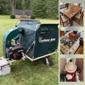 MaxSold Auction: This online auction features furniture such as Bassett sofa, leather sofas, sideboard, dining tables, and chairs, décor such as Safavia area rug, ceramics, and wall art, yard tools such as Enduro cyclone rake, Stihl chainsaw, and Toro snowblower, exercise equipment such as NordicTrack treadmill and Pilates table and much more!