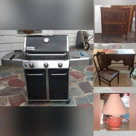MaxSold Auction: This online auction features Guitar, Lawn Mower, Gas BBQ Grill, Dog Crate, Metal Trundle Bed, Patio Furniture, Limoges Dishware, DVDs, Peddle Exerciser, Window AC, David Winter Cottages, Power & Hand Tools, Pneumatic Tools, Spode Snow Globe, Circulation Restrainer, Elliptical, Sporting Goods, Games, Puzzles, Clarinet, Small Kitchen Appliances and much more!