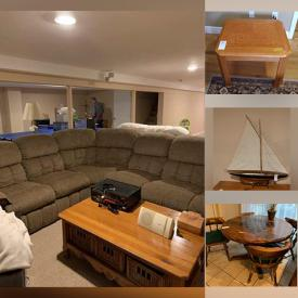 MaxSold Auction: This online auction features Outdoor patio furniture, Kitchenware, Sectional Sofa, Bicycles, Dressers, Bed Sets, Desks, Lamps, BOSE, Electronics, Guitar, Snow Blower and much more.