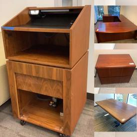 MaxSold Auction: This Commercial Liquidation online auction features Real Wood Bookcases, Round Tables, Lateral File Cabinets, U-shaped Desks, Conference Tables, Podium, Metal Side Chairs, Wood Side Chairs, Credenza, Standing Desk Tops, Live Plants, Printers, Monitors, Station Cubicles, Metal Lateral Filing Cabinets and much more!