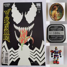 MaxSold Auction: This online auction features Comics, Vintage Toys, Coins, Spear Heads, Stamps, Sports Cards, Vintage Postcards, Vinyl Records (45s & LPs), Non-sports Trading Cards and much more!