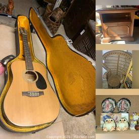 MaxSold Auction: This online auction features cabinets, electronic vacuum cleaners, Christmas decors, home ornaments, kitchenware, guitars, costume jewelry, bathroom accessories, shoes, clothes, printers, shelves and much more!