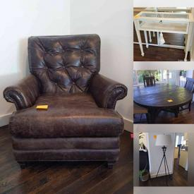 MaxSold Auction: This online action features Vintage Furniture, Artwork, Sofa, Office Supplies, Display case, Ceramics, Pottery, Kitchen Appliances, Coffee Tables, Lamps, Dining Table and Chairs, Electronics and much more.