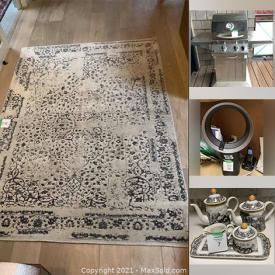 MaxSold Auction: This online auction features Small Kitchen Appliances, Art Glass, Rosenthal Vases, Area Rugs, Dyson Tabletop Fan, Miniature Tea Pot Collection, Natural Gas BBQ and much more!