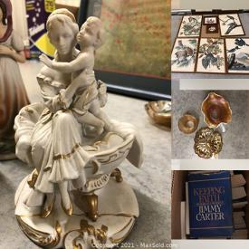 MaxSold Auction: This online auction features Jewelry, Kitchen Gadgets, Hallmark Ornaments, Hardware, Stained Glass window, Collector Plates, Small Kitchen Appliances and much more!