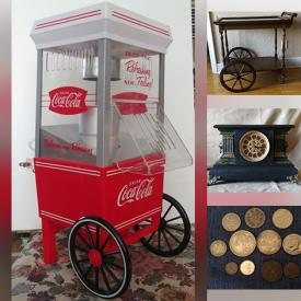 MaxSold Auction: This online auction features Lap Weaving Loom, Tires, Vintage Mantle Clock, Costume Jewelry, Robot Dog, Coins, Toys, Puzzles, Antique Aladdin Kerosene Lamp, Star Wars Figures, NIB N Scale Train Cars, Sewing Machine, Motorcycle Gear, Hand-painted Wine Glasses, Women's Clothing, Small Kitchen Appliances, Printers, Art Glass, Area Rugs and much more!