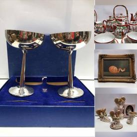 MaxSold Auction: This online auction features Seraphim Classics Angels, Vintage Signed Lithograph Japanese Tea Set, Pig Collection, Cameras, Signed Oil on Canvas Paintings, Vintage Jewelry, MCM Bedroom Set and much more!