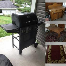 MaxSold Auction: This online auction features Pine Table & Chairs, Stoneware Jugs, Area Rug, Collectible Teacups, Electric Fireplace, BBQ, Foreign Currency, Original Watercolours, Lawn Mower, Hand Tools and much more!