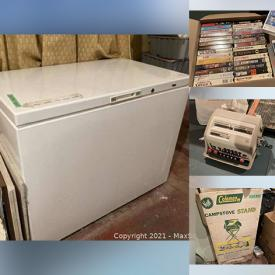 MaxSold Auction: This online auction features Ping Pong Table, Plywood, Bathroom Tiles, Fluorescent Light Fixtures, BBQ Accessories, Chest Freezer, Vintage Doll Stroller, Vintage Books, Vintage Toys, Office Supplies and much more!