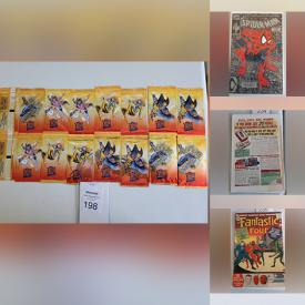 MaxSold Auction: This online auction features Marvel comics such as Spider-Man, X-Men, Deadpool, Star Wars and Avengers, DC comics such as Batman, Superman, and Wonder Woman, vintage LPs, CDs, Capcom Fleer packs, vintage magazines and much more!