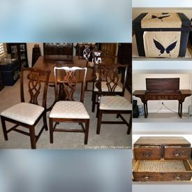 MaxSold Auction: This online auction features a dining set, Japanese chests, Japanese altar table, glass cabinet, Italian folding chairs, sofa, beach chairs, antique tatami room cabinet and much more!