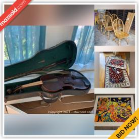 MaxSold Auction: This online auction features Dog Kennel, Vintage Books, Peter Zonis Serigraphs, NIB Sake Set, Area Rugs, Antique Violin, Vintage Mahogany Dining Room Table, Vintage Yamaha Upright Piano, Small Kitchen Appliances, Nutcrackers, Craft Supplies, Hand Tools, Yard Tools, NIB Ceiling Chandelier, Costume Jewelry and much more!