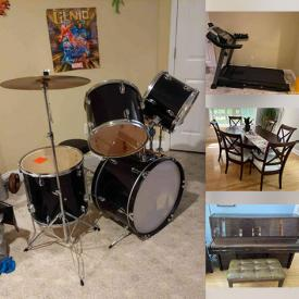 MaxSold Auction: This online auction features Crystal, Sectional Sofa, Dining Room Set, Sterling Silver, Kitchenware, Drum Set, Games, Electronics, Books, VHS, Board Games, Sporting Equipment, Video Games and much more.
