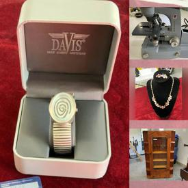 MaxSold Auction: This online auction features Vintage items such as Gilde Clowns, Books, Cigar Boxes, Marbles, Doll Furniture, Glass Knobs, Costume Jewelry, and Microscope, Egg Cups, Games, Porcelain Sinks, Camping Gear, Costume Jewelry, Handmade Quilts, NIP Hand Tools, NIP Hardware and much more!